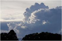 Aufquellende Wolken am 1.7.2020