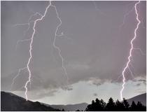 Zwei Blitzschläge an der Sunntratn am 30.7.2017