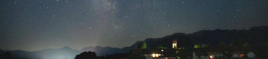 Sternenhimmel über Wackersberg